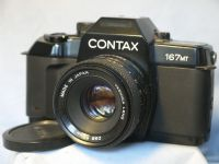 '         167MT + 55MM ' Contax 167MT Professional SLR Camera + 55MM Lens -NICE- £59.99
